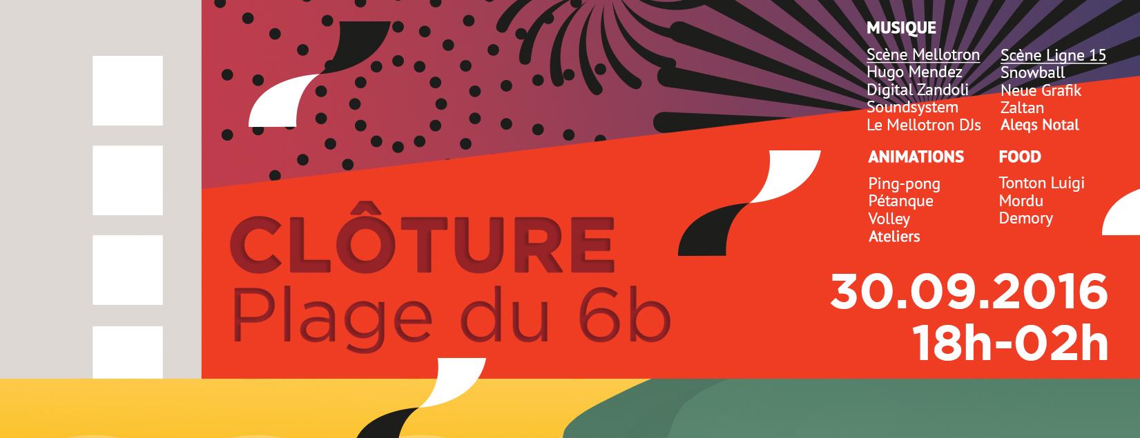CLÔTURE DE LA PLAGE DU 6b @ Le 6b | Saint-Denis | Île-de-France | France